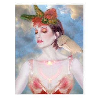 El sueño aviar - autorretrato postales