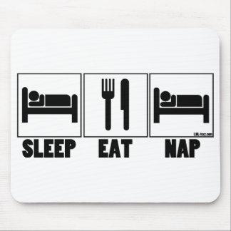 El sueño come siesta tapete de ratón