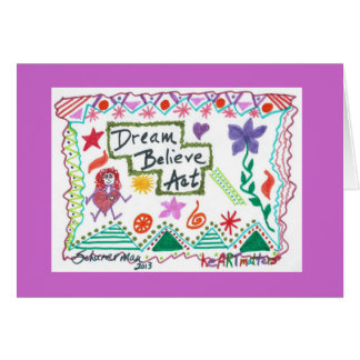 El sueño cree acto tarjeta de felicitación