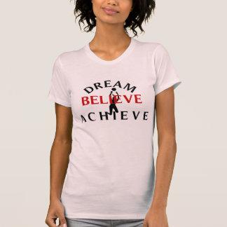El sueño cree alcanza a señora Volleyball T-Shirt Playera