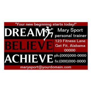 El sueño cree alcanza al instructor personal plantilla de tarjeta de visita