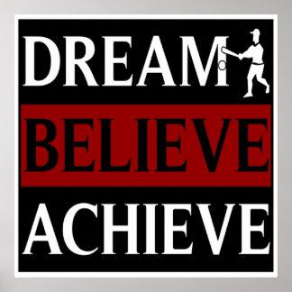 El sueño cree alcanza béisbol posters