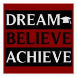 El sueño cree alcanza el poster de la educación