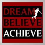El sueño cree alcanza el poster del baloncesto
