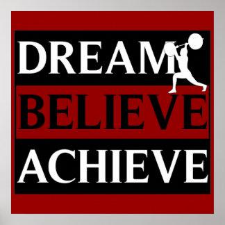 El sueño cree alcanza el poster del levantamiento  póster