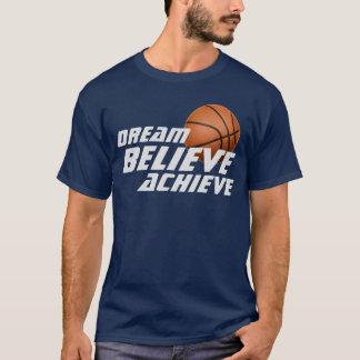 El sueño cree alcanza la camiseta del baloncesto