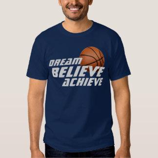 El sueño cree alcanza la camiseta del baloncesto playeras
