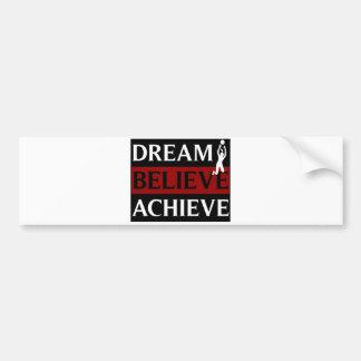 El sueño cree alcanza voleibol para mujer pegatina de parachoque