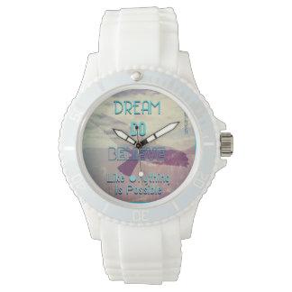 El sueño cree relojes de mano