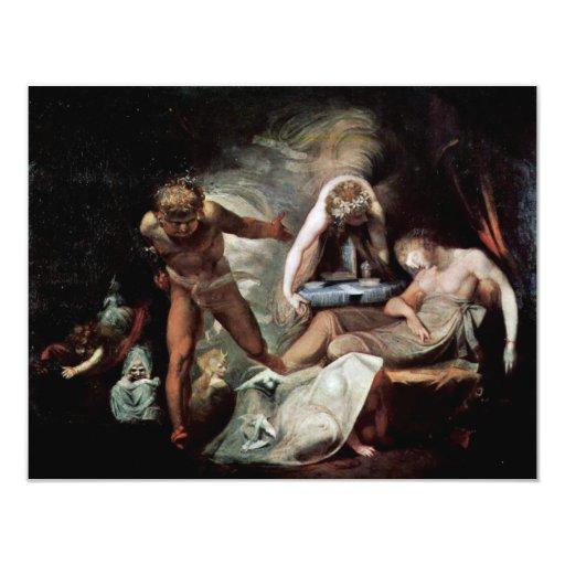 El sueño de Belinda de Füssli Juan Heinrich (el Invitación 10,8 X 13,9 Cm