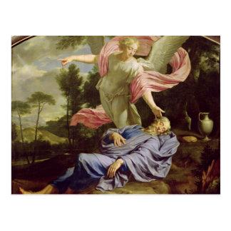 El sueño de Elías, 1650-55 Tarjeta Postal