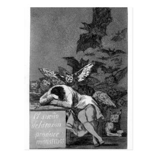 El sueño de Francisco Goya- de la razón produce a  Postales