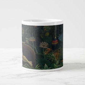 El sueño de Henri Rousseau, impresionismo del Taza De Café Grande