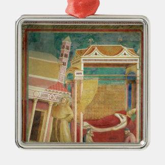 El sueño de Inocencio III, 1297-99 Adorno Navideño Cuadrado De Metal