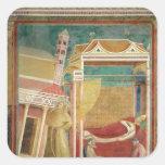 El sueño de Inocencio III, 1297-99 Pegatina Cuadrada