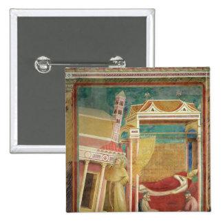 El sueño de Inocencio III, 1297-99 Pin Cuadrado