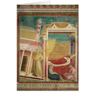 El sueño de Inocencio III, 1297-99 Tarjeta De Felicitación