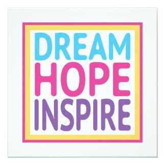 """El sueño de la esperanza inspira invitación 5.25"""" x 5.25"""""""