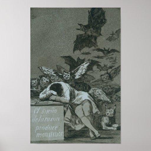 El sueño de la razón produce a monstruos poster