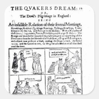El sueño de los Quakers Pegatina