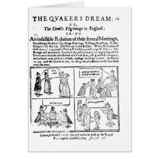 El sueño de los Quakers Tarjetón