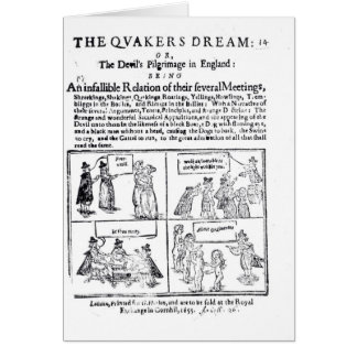 El sueño de los Quakers Tarjeta De Felicitación