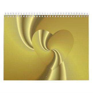 El sueño de oro del amor - amor en disfraz calendario de pared