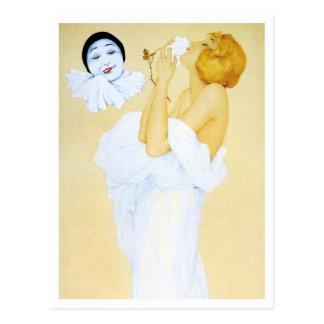 El sueño de Pierrot - de la serie del amor del Postal