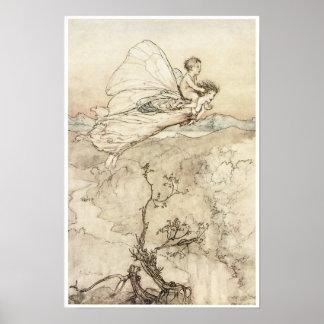 El sueño de una noche de verano, arte 1907 de la h posters