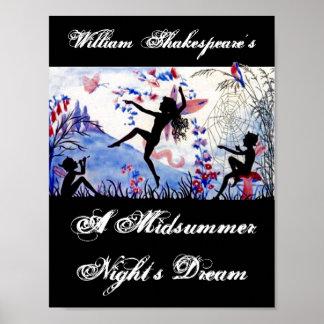El sueño de una noche de verano William Shakespear Póster