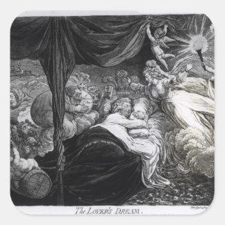 El sueño del amante, 1795 pegatina cuadrada