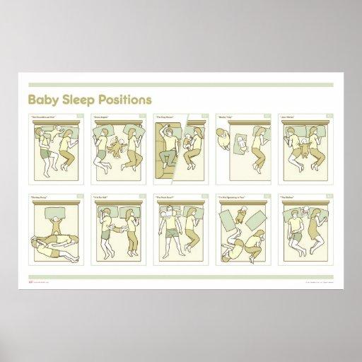 El sueño del bebé coloca el poster póster