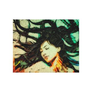 El sueño del chica en un sueño lienzo envuelto para galerías