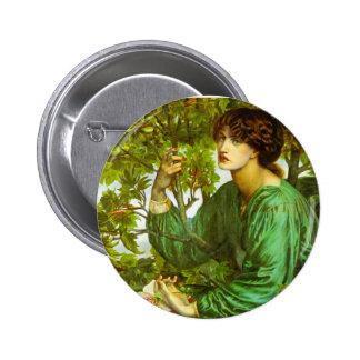 El sueño del día de Dante Gabriel Rossetti Pin Redondo De 2 Pulgadas