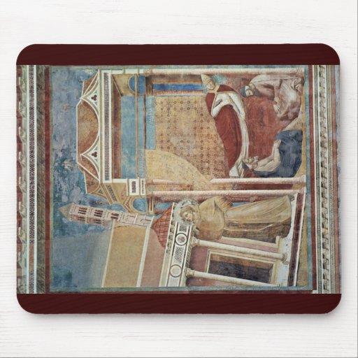 El sueño del Innocent Iii. Por Giotto Di Bondone Alfombrillas De Raton