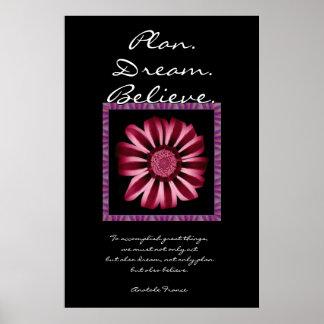 El sueño del plan cree - la margarita roja y póster