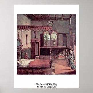 El sueño del santo de Vittore Carpaccio Poster