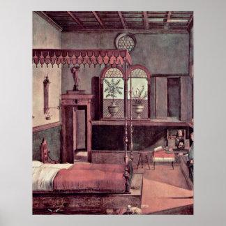 El sueño del santo de Vittore Carpaccio Impresiones