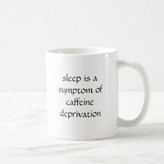 el sueño es un síntoma de la privación del cafeína tazas