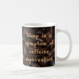 El sueño es un síntoma de la privación del cafeína taza de café