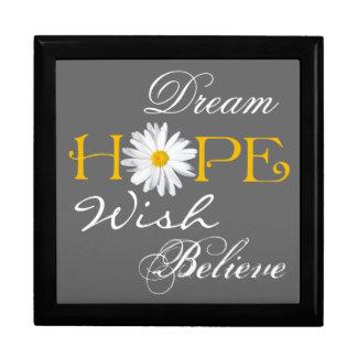 El sueño, esperanza, deseo, cree el recuerdo o el  cajas de recuerdo