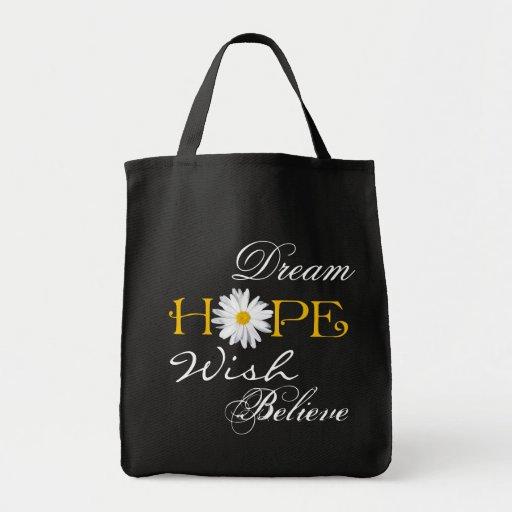 El sueño, esperanza, deseo, cree la bolsa de asas