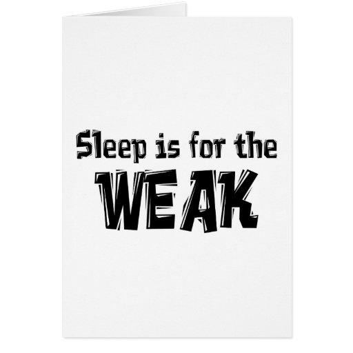 El sueño está para el artículo débil tarjeton