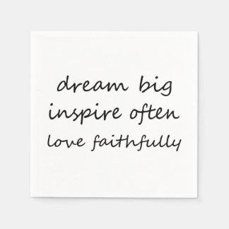 El sueño inspira amor servilletas de papel