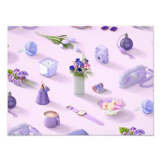 El sueño púrpura del chica cojinete