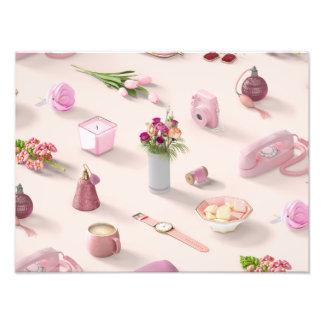 El sueño rosado del chica cojinete