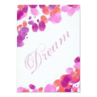 El sueño se imagina la tarjeta de Scrapbooking de Comunicado Personal