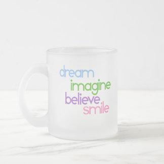 el sueño se imagina para creer sonrisa tazas