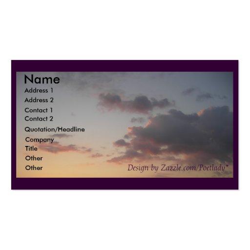 El sueño se nubla la tarjeta de visita