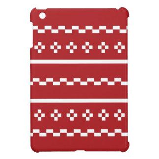 El suéter del navidad rojo y blanco